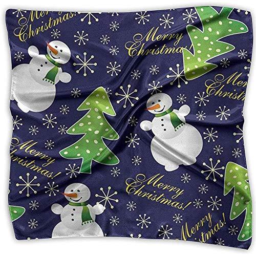 Uridy Schneemann mit stilvoller weicher Satin-Seide der Weihnachtsbaum-Frauen, die elegante formale quadratische Ansatz-Schal-Kopf-Haar-Verpackungen glaubt