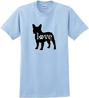 ThisWear French Bulldog Love Dog Paw Prints T-Shirt