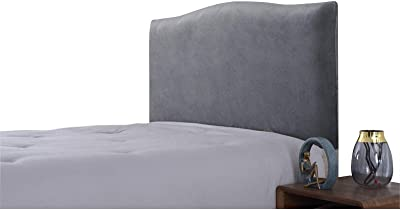 Bed Headboard Cover Stretch Slipcover Protector Headboard Gray Charcoal 18m