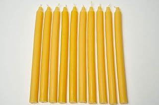 Imkerei Freese 10 Stabkerzen lang ca. 28cm x 2cm aus 100% Bienenwachs vom Imker