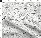 Kalligraphie, Paris, New York Stoffe - Individuell Bedruckt