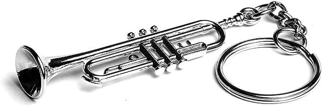 3d llavero de metal plateado Trompeta con bolsa de ...
