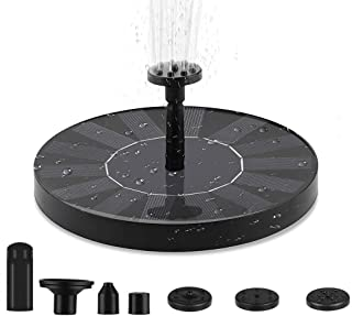Solar Fountain Pump, Floating Solar Water Pump for Bird Bath, Water Feature for Garden, Pool or Pond. Simple to Use, No Ba...