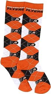 For Bare Feet NHL Repeat Logo Argyle Knee High Socks-Medium