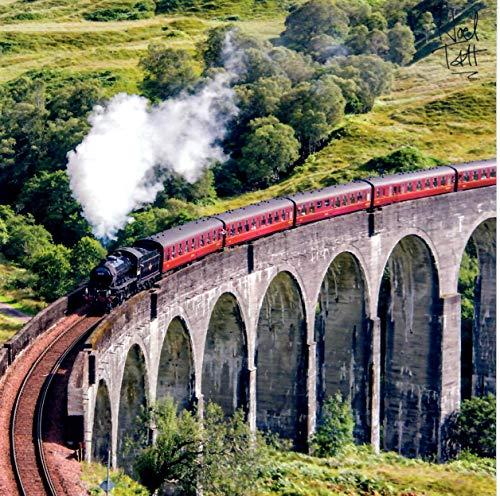 Noel Tatt – Jacobite treno a vapore – Biglietto di auguri vuoto