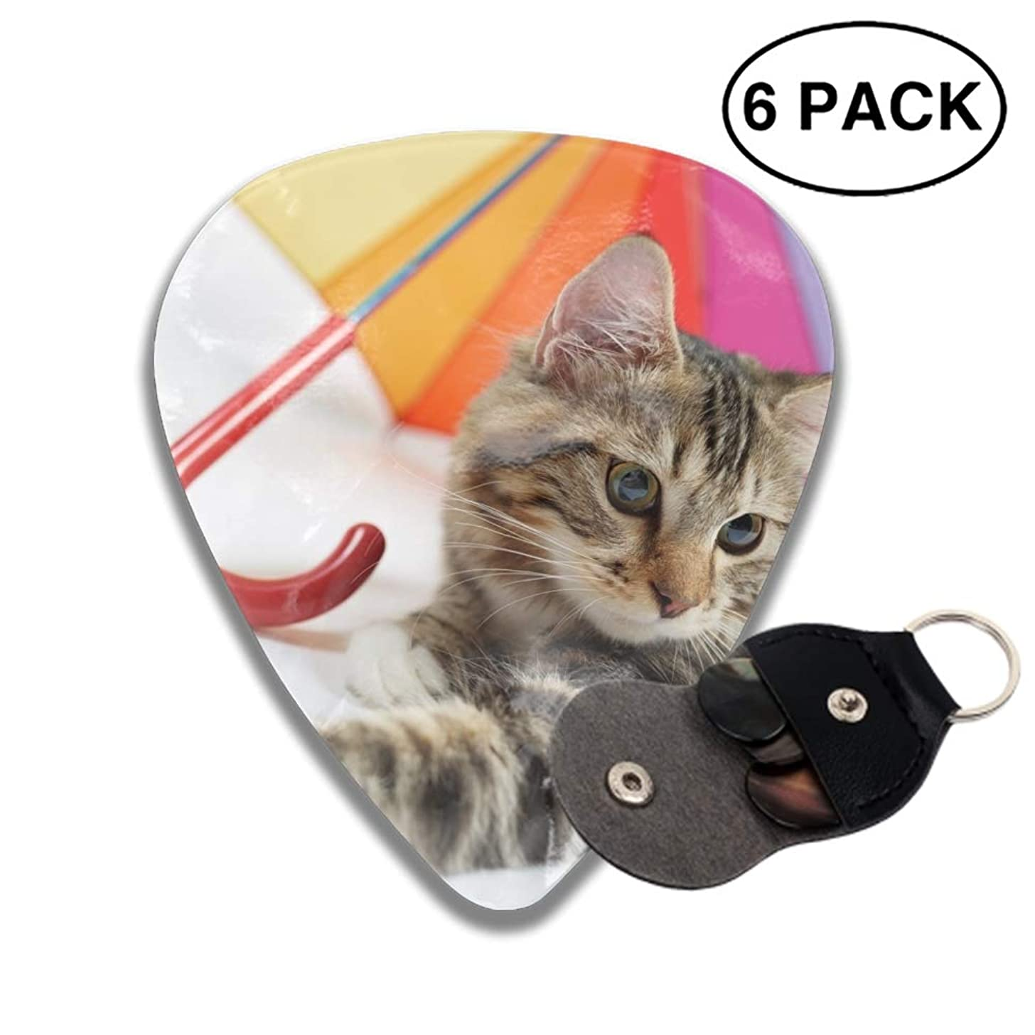 Celluloid Guitar Picks 3D Printed Animal Cats Umbrella Best Guitar Bass Gift For gril