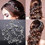 Mode Perle Hochzeit Haar Rebe, Frauen Kristall Stirnband Haarspangen für Braut / 1M Mädchen...