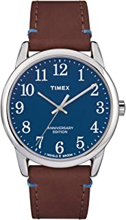 Easy Reader Blue Dial Leather Strap Men's Watch TW2R36000