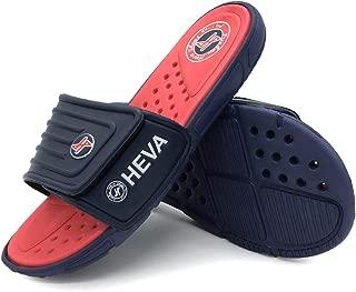 FUNKYMONKEY Men's Slide Sandals Adjustable Slip on Slippers