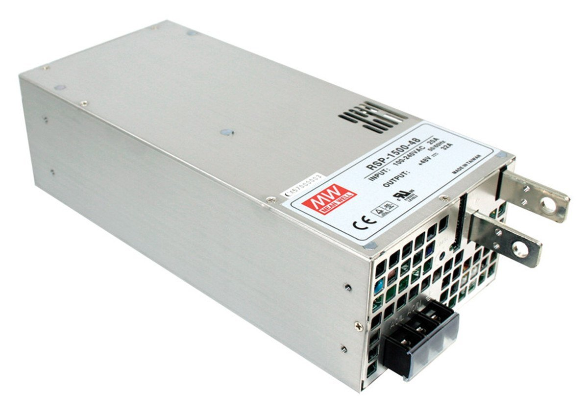 Mean Well RSP-1500-27 Enclosed Switching AC-to-DC Power Supply, Single Output, 27V, 0-56A, 1512W, 3.3