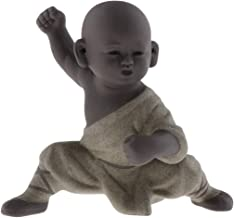 Flameer Chinese Kungfu Tea Pet Little Buddha Monk Color Sand Statue for Home Tea House Tea Party Decor - Style C