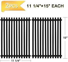X Home 65904, 7521 Porcelain Steel Grill Grates for Weber Spirit 200 210 E210 Grills with Side-Controls, Also for Genesis Silver A, Spirit 500 Cooking Grates (Set of 2, Each 15 x 11-1/4 inches)