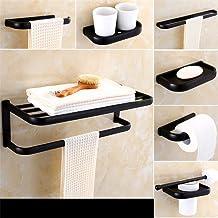 MBYW moderne minimalistische hoge dragende handdoek rek badkamer handdoekenrek Europese zwarte bronzen handdoek rek koper ...