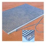 Galvanized steel mesh construction effectively drags and grooms the dirt to create a smooth, even surface Maintains the dirt on the infield baseline, the pitcher's mound, the batter's box or the home plate area Suitable for use before and after games...