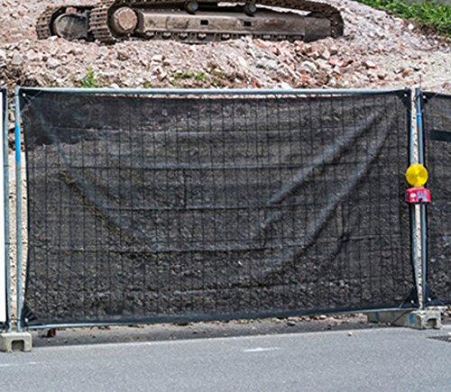 Bauzaunplane Sichtschutzplane Zaunblende Sichtschutz Sichtblende 1,76 x 3,41 m, 10 Stück