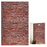 Platform 9 and 3/4 Platform 9 and 3/4 King's Cross Station, Curtains Door, Red Brick Wall Party Backdrop, Secret Passage to The Magic School, Platform Party Supplies Halloween Decoration - Old Red