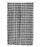 miomare Duschvorhang Vorhang Dusche Badezimmer 180 x 200 cm - Grafik Muster