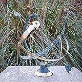 IDYL Outdoor Zeitmesser aus Bronze Sonnenuhr - hochwertig und auffällig | Nr. 0028 | Maße: 45 x 55 x 40 cm