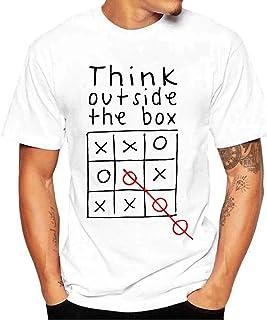 Foowni Men Printing Tees Shirt Short Sleeve T Shirt Blouse