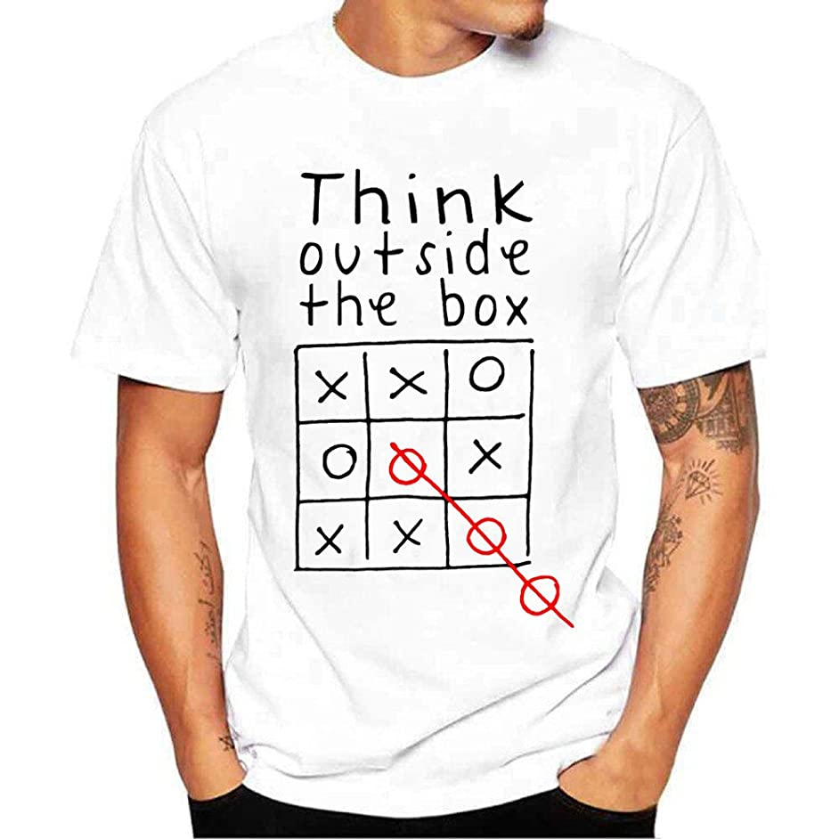 Fxbar,Men's T Shirt Graphic Printed Tee Shirts Summer Essential Golf Shirt Tee Top
