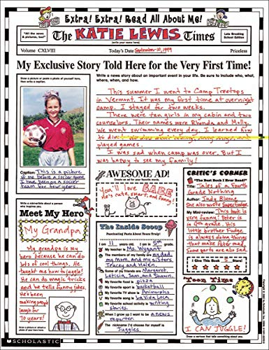 Instant Personal Poster Sets: Extra, Extra, Read All About Me!: Big Write-and-Read Learning Posters Ready for Kids to Personalize and Display With Pride!