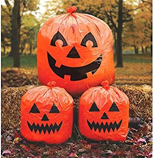 Amscan Pumpkin Lawn Bags, Halloween Decoration 30