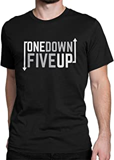 Motorcycle One Down Five Up Novelty Graphic T Shirt Gear Shift Gear 1N23456 1 Down 5 Up Tees Tops for Men