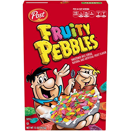 Post Fruity Pebbles Breakfast Cereals (Post Fruity Pebbles Frühstückscerealien) 425g