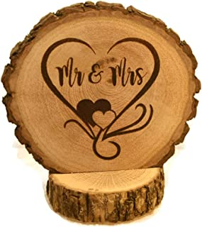 Rustic Mr and Mrs Wedding Cake Topper