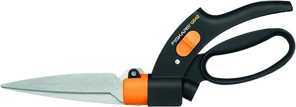 Fiskars Graskantenschaar, met gepatenteerd Servo-System, lengte: 32 cm, staal/kunststof, zwart/oranje, GS42, 1000589