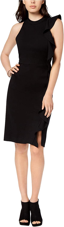 Bar Iii Womens PonteKnit Sheath Dress Deepblack 2Xl
