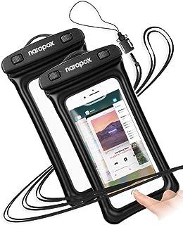 Naropox Funda Impermeable para Celular, Universal Funda Celular contra Agua Bolsa Transparente para iPhone 11 Pro Max/X/XS...
