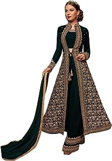 Georgette Muslim Palazzo Long Party Muslim salwar Kameez Indian jalabeya Arab Dress Suit 8123