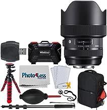 "Sigma 14-24mm f/2.8 DG HSM Art Lens for Canon EF + Vivitar Series 1 Trolley DSLR Camera Backpack Case + 12"" Tripod + 72"" Monopod + Memory Card Case (24 Slots) + USB Card Reader + Dust Blower + More"