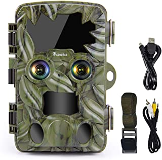 Trail Camera Dual-Lens with Starlight Night Vision, Ctronics 4K&20MP Wildlife Camera with Night Vision Motion Activated Wa...