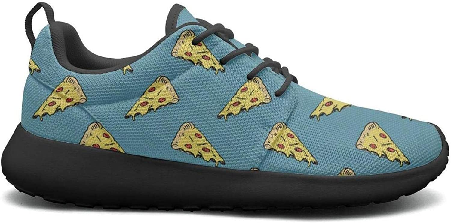 Gjsonmv Food Pizza bluee Backdrop mesh Lightweight shoes for Women Casual Sports Walking Sneakers shoes