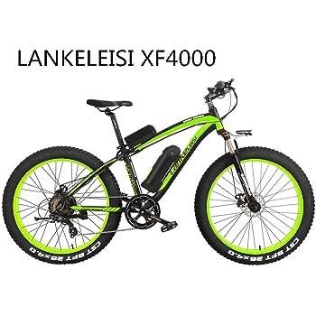 LANKELEISI XF4000 - Bicicleta eléctrica de 1000 W con velocímetro ...