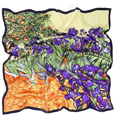 Prettystern prettystern P962-90cm Reine Seide Impressionismus Kunstdrucke Malerei Tuch - Van Gogh - Schwertlilien/Iris