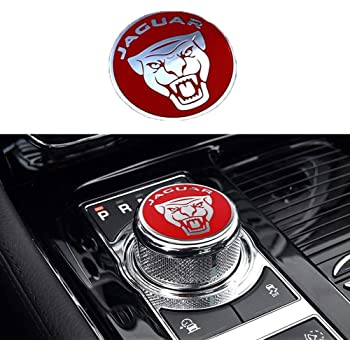 MAXDOOL Panel Frame Cover Trim Accessories Gear Shift Knob Cover Decoration Trim Sticker for Jaguar XF XE XJ F-Pace Black