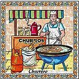 MI CASA Azulejo Oficio Churrero con Colgador