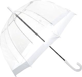 Clifton Umbrellas White Trim Clear PVC Birdcage windproof Umbrella, White