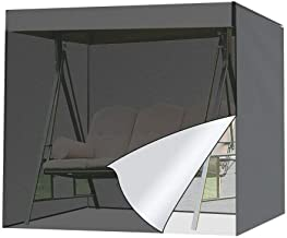 MiOYOOW Patio Swing Cover, Hammock Cover UV Resistant Glider Canopy Replacement Cover Waterproof Patio Furniture Cover for...
