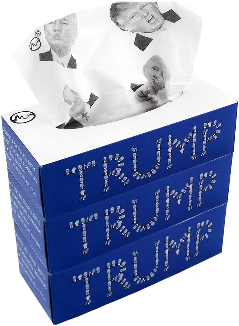 Trump Facial Max 47% OFF Tissues shopping 5 Emoticons Toilet 3-Ply 3 Pack 120 Paper