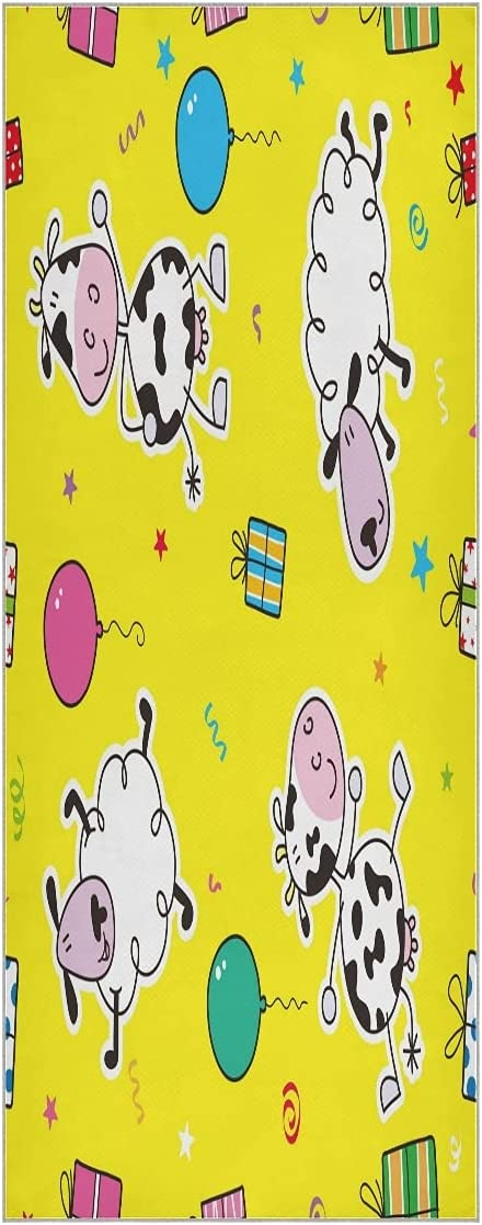 FVFV Cow Sheep Dream Yoga Towel Slip Non Mat Super Odorless Max Limited time for free shipping 80% OFF Soft
