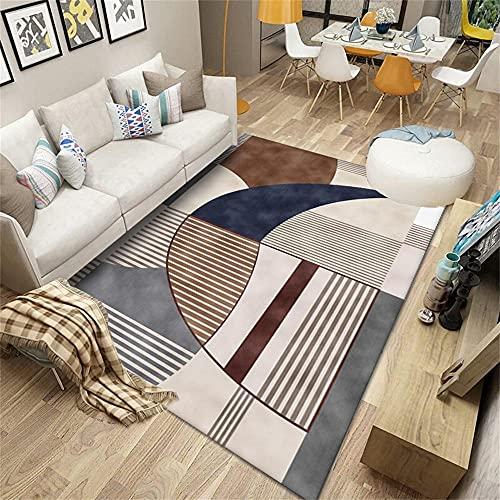 Fille Chambre Tapis Anti Vibration Machine A Laver Tapis régional cendrier Brun Moderne Tapis géométrique Salon Chambre décoration 160x230cm Tapis IKEA