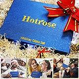 Hotrose Whiskeygläser Set, Geburtstagsgeschenk Set für Männer und Frauen, Kristall Wein Tassen Geschenkset mit 2 Gläsern, 6 Eiswürfelsteinen, 1 Gummizange - 4