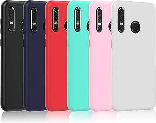 VGUARD 6 Stuks Compatibel met Huawei P30 Lite 2019 / Huawei P30 Lite New Edition 2020 Hoesje, Ultradun Siliconen Krasbeste...