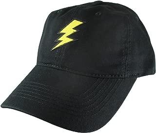 Lightning Flash Dad Hat, Black Baseball Cap, Embroidered Patch