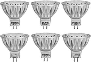 BAOMING MR16 LED Bulbs 5W Warm White 2700K, 50W Halogen Replacement, GU5.3 Base 12V Low Voltage 38° Spot Light Not Dimmable 6-Pack