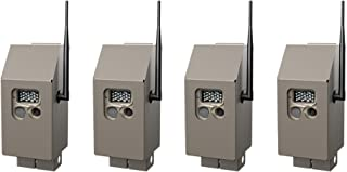 Cuddeback CuddeSafe J Series Trail Camera Security Boxes, 4-Pack: Protects Game Cams from Animals and Thieves